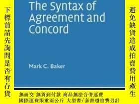 二手書博民逛書店The罕見Syntax Of Agreement And Concord (cambridge Studies I