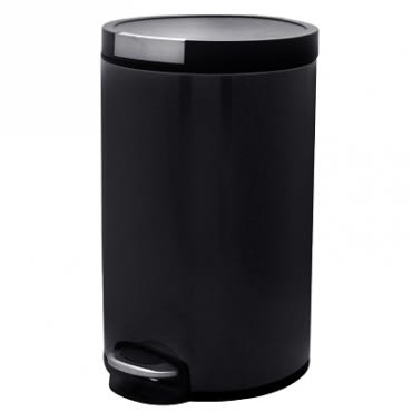 卡爾緩降超靜音踏式垃圾桶12L 黑色