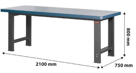 【 IS空間美學】高荷重型工作桌WH7M-寬210cm