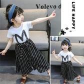 新款女童1夏季0夏裝2嬰兒童裝3歲半韓版潮女寶寶短袖時髦套裝