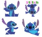 【卡漫城】 史迪奇 防水貼紙  四張組  ㊣版 Stitch 迪士尼 星際寶貝 Scrump 醜丫頭 台灣製