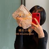 玫瑰花紋化妝包化妝品收納整理袋旅行便攜大容量【橘社小鎮】