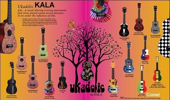 【非凡樂器】KALA Ukadelic STIKI 21吋限量彩繪烏克麗麗 / 公司貨