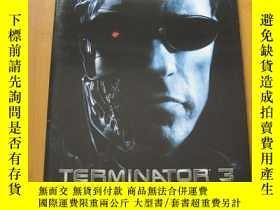 二手書博民逛書店終結者3罕見Terminator3: Rise of the Machines 電影場刊 阿諾·施瓦辛格Y17
