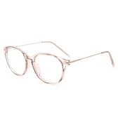 鏡架(橢圓框)-時尚簡約個性透明男女平光眼鏡4色73oe65【巴黎精品】
