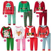 長袖套裝 聖誕節 長袖上衣 條紋長褲 二件式 耶誕 家居休閒套裝 XE21131