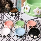 瞬間被美哭啦~小花碗 陶瓷碗 寵物貓咪狗狗碗 食盆 飯碗吾本良品