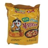三養起士火辣雞肉乾燒拉麵140G*4【愛買】