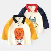 男童長袖t恤小童秋季童裝3兒童polo衫女春秋上衣寶寶秋裝梗豆物語