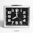 SEIKO精工鬧鐘 方型時尚銀色鈴聲鬧鐘 滑動式靜音秒針 夜光功能 柒彩年代【NV1748】原廠公司貨