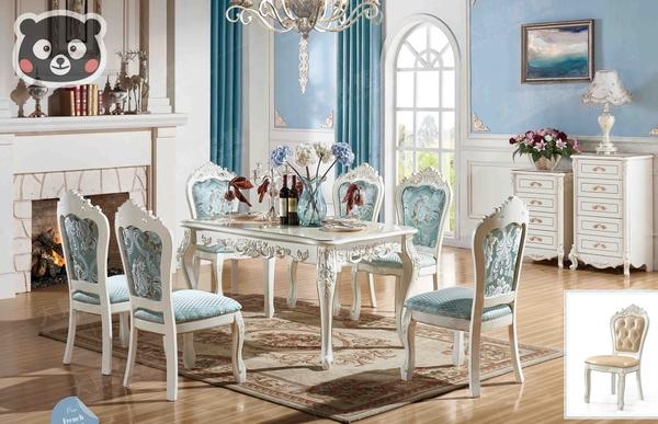 【大熊傢俱】1C 1162 法式 餐桌 吃飯桌 歐式餐櫃 收納桌 餐椅 斗櫃 歐式 新古典 另售床架 化妝台