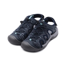 老船長 飛織束帶護趾涼鞋 藍 女鞋
