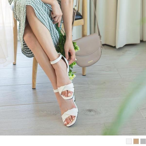 《SD0274》台灣製造.甜美扭結簡約微高跟涼鞋 OrangeBear