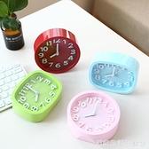 台式創意個性學生兒童鐘表床頭靜音石英鐘桌面小擺件鬧鐘電子時鐘