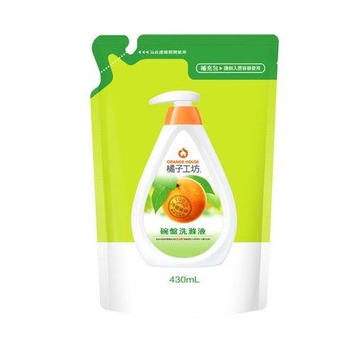 橘子工坊 一般碗盤洗滌液補充包430ml[衛立兒生活館]