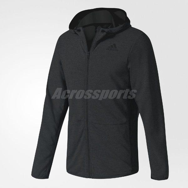 adidas 連帽外套 Climacool Workout Hoodie 黑 男款 輕量 長袖【PUMP306】 BK1087
