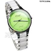 TIVOLINA 時刻亮鑽 玩色 鑽錶 陶瓷錶 防水 藍寶石水晶鏡面 日期顯示窗 女錶 綠色 MAW3756-N