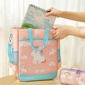 補習手提袋帆布防水補習班國中大容量畫畫袋工具包學具袋【聚寶屋】