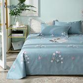 全棉碎花單人學生床單單件1.5米床 純棉布1.8m雙人床宿舍被單igo ciyo黛雅