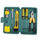 BO雜貨【SV6533】11件工具組 家用組合工具 隨身工具箱 汽車應急螺絲工具組 露營 維修工具 汽車用品