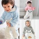 Augelute 冬動物造型保暖連身衣 舒棉絨造型嬰幼兒爬服 12017