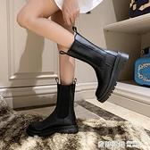 馬丁靴女2020年秋季新款厚底切爾西靴中筒靴煙筒短靴子女 全館免運