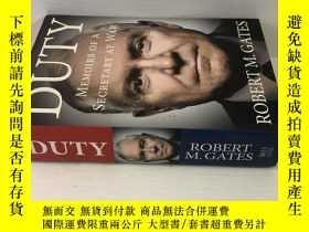 二手書博民逛書店Duty:罕見Memoirs of a Secretary at War(英文原版16開精裝 )羅伯特·蓋茨自傳奇