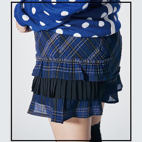 【ohoh-mini孕婦裝】蘇格蘭風格壓折孕婦褲裙