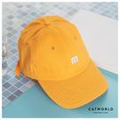 Catworld 簡約M字母刺繡棒球帽【18003549】‧F
