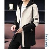 中長款風衣 男士秋裝上衣2020新款外套男韓版潮流春秋薄款夾克學生中長款風衣