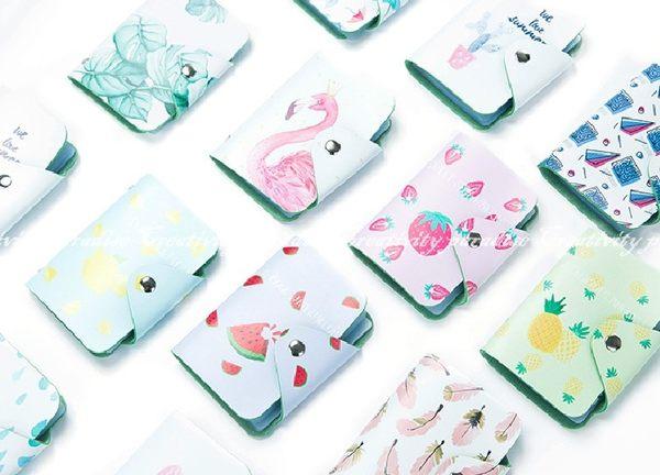 【水果卡包】小清新卡片夾 20卡位卡片包 信用卡夾 卡片收納包 名片夾悠遊卡會員卡金融卡一卡通