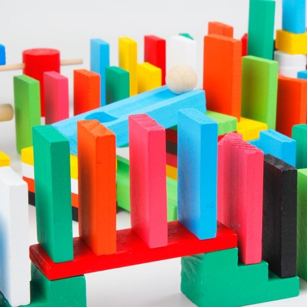 多米諾骨牌幼兒童益智1000片機關玩具