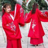 漢服女刺繡花民族風披風外套大袖古漢元素交領齊腰襦裙 「爆米花」