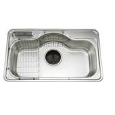 櫻花 Svago 85公分不鏽鋼大單槽水槽 PDS850
