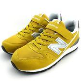 《7+1童鞋》中童 New Balance KV996BYY 透氣 麂皮 復古 休閒 運動鞋 9396 黃色
