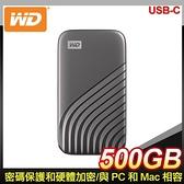 【南紡購物中心】WD 威騰 My Passport SSD 500GB USB 3.2 外接SSD《灰》(WDBAGF5000AGY)