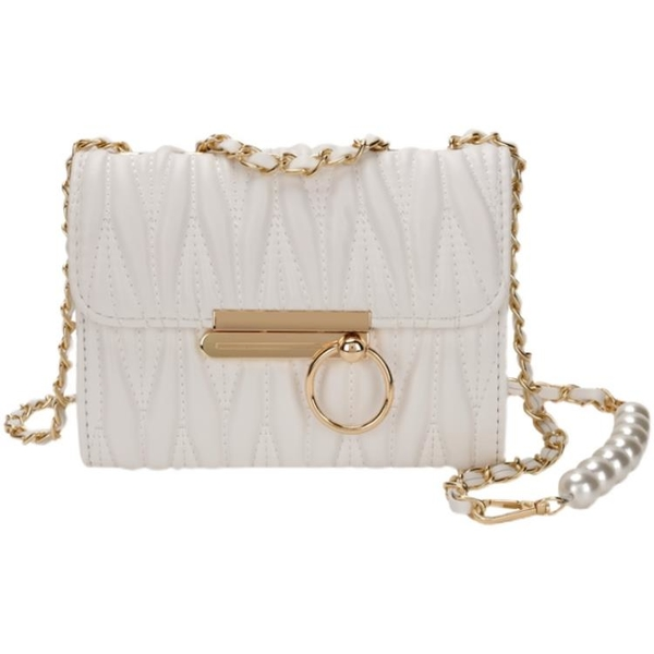 珍珠鏈條包 小包包女2021新款夏天珍珠鏈條包斜挎包迷你包夏季女包百搭 ww