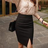 85折高腰包臀窄裙一步裙女開叉西裝裙職業裙開學季