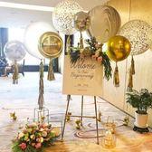 畫架 婚禮迎賓水牌架歐式鐵藝油畫架相框托架落地支架展示架婚慶畫架