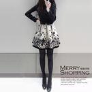 長袖洋裝 素色拼接抽象畫修身加厚連身裙 ...