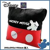 【愛車族】DISNEY 米奇腰靠墊 紅黑 | 抱枕 WDC111 迪士尼系列