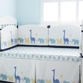 純棉加高加厚床圍床幃新生兒床上用品四季秋冬歐式防撞    WD