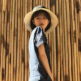 簡約百搭雙面純色漁夫帽子防曬遮陽盆帽潮
