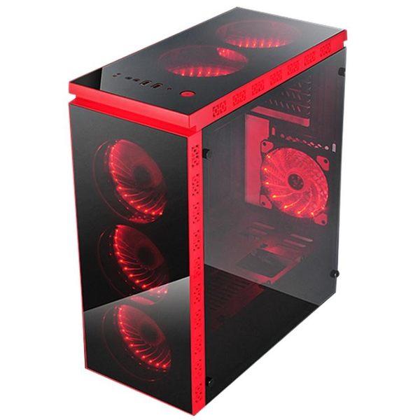 主機箱 長祺夜色 臺式機電腦主機大機箱 下置獨立電源倉USB3.0電腦空機箱  ATF  魔法鞋櫃