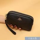 手拿包真皮雙拉鏈錢包女新款頭層牛皮長款大容量手拿包手機包手包女 快速出貨
