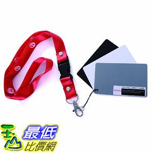 [美國直購] Movo Photo Color/White Balance Card Set for Digital Photography (Pocket-sized, 3.25 x 2吋) S