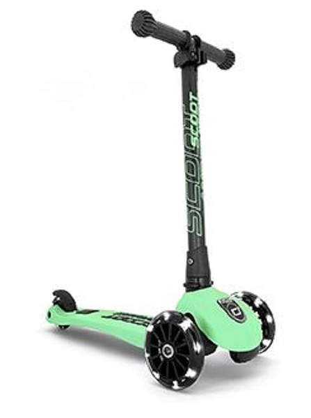 奧地利 Scoot & Ride Cool Kick3 LED 炫輪滑板車/滑步車 -奇異果綠
