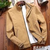 純棉新款秋季男士外套中年韓版潮流加絨男裝秋冬休閒牛仔夾克 遇見生活