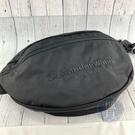 BRAND楓月 ALEXANDER WANG 亞歷山大王 黑色 帆布 刺繡LOGO 壓克力鍊帶 側背包 腰包
