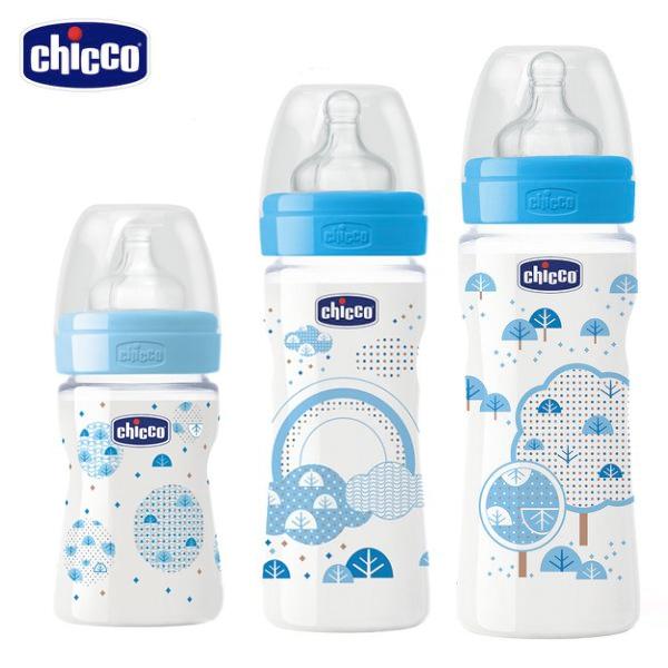 chicco-舒適哺乳-帥氣男孩矽膠PP奶瓶150ML+250ML+330ML